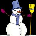 Bonhomme de neige au haut de forme