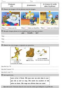 Le Verbe Exercices Ce1 Ce2 Traces Ecrites Reconnaitre