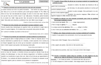 Les pronoms - exercices d'application