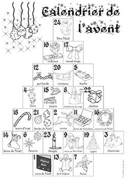 Des calendriers de l 39 avent la classe des gnomes - Calendrier de l avent a colorier ...