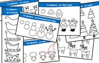 Dessin guidé : Je dessine Noël ~ La Classe des gnomes
