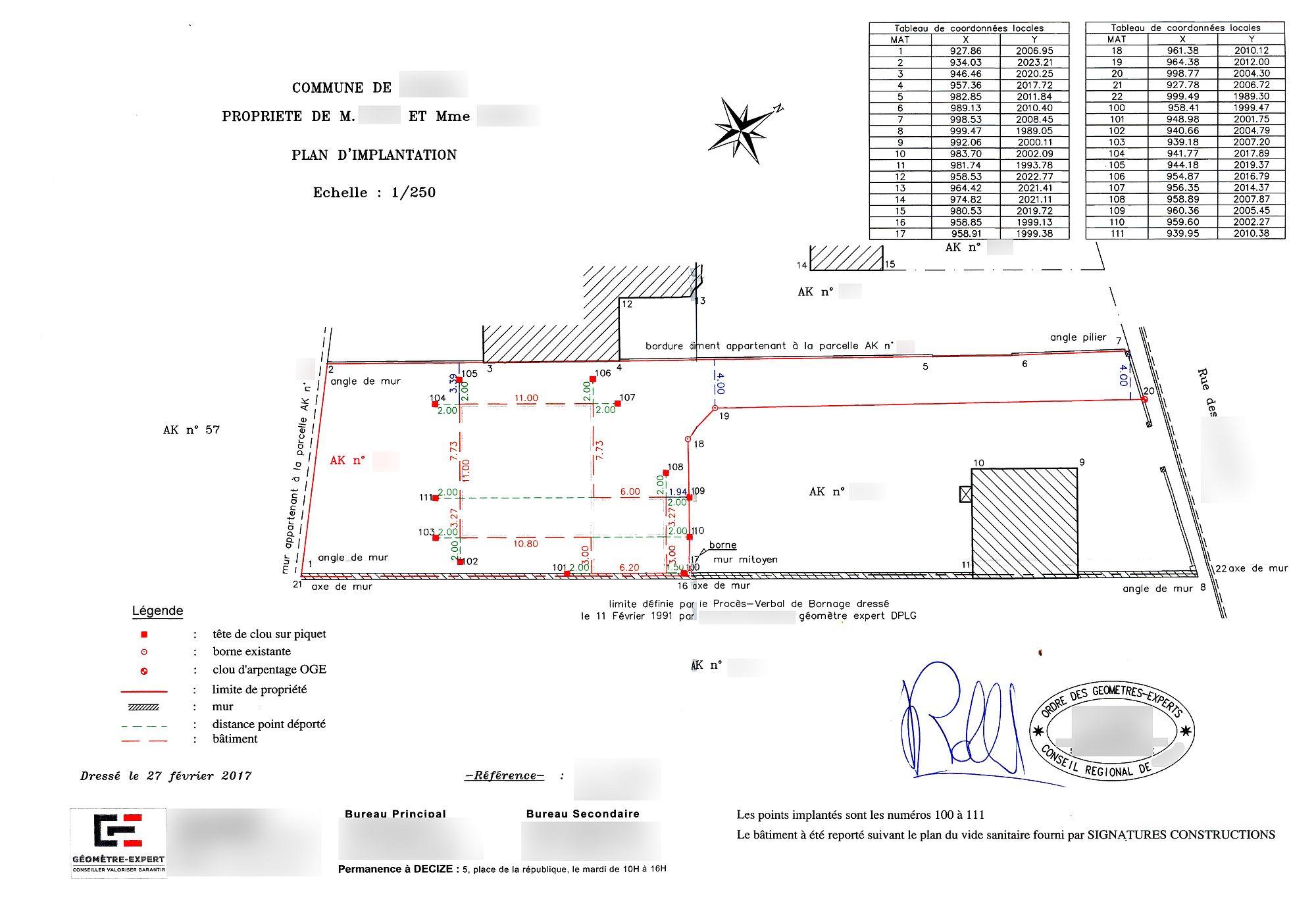 Plan d implantation de la maison par le g om tre nothrim for Plan implantation maison