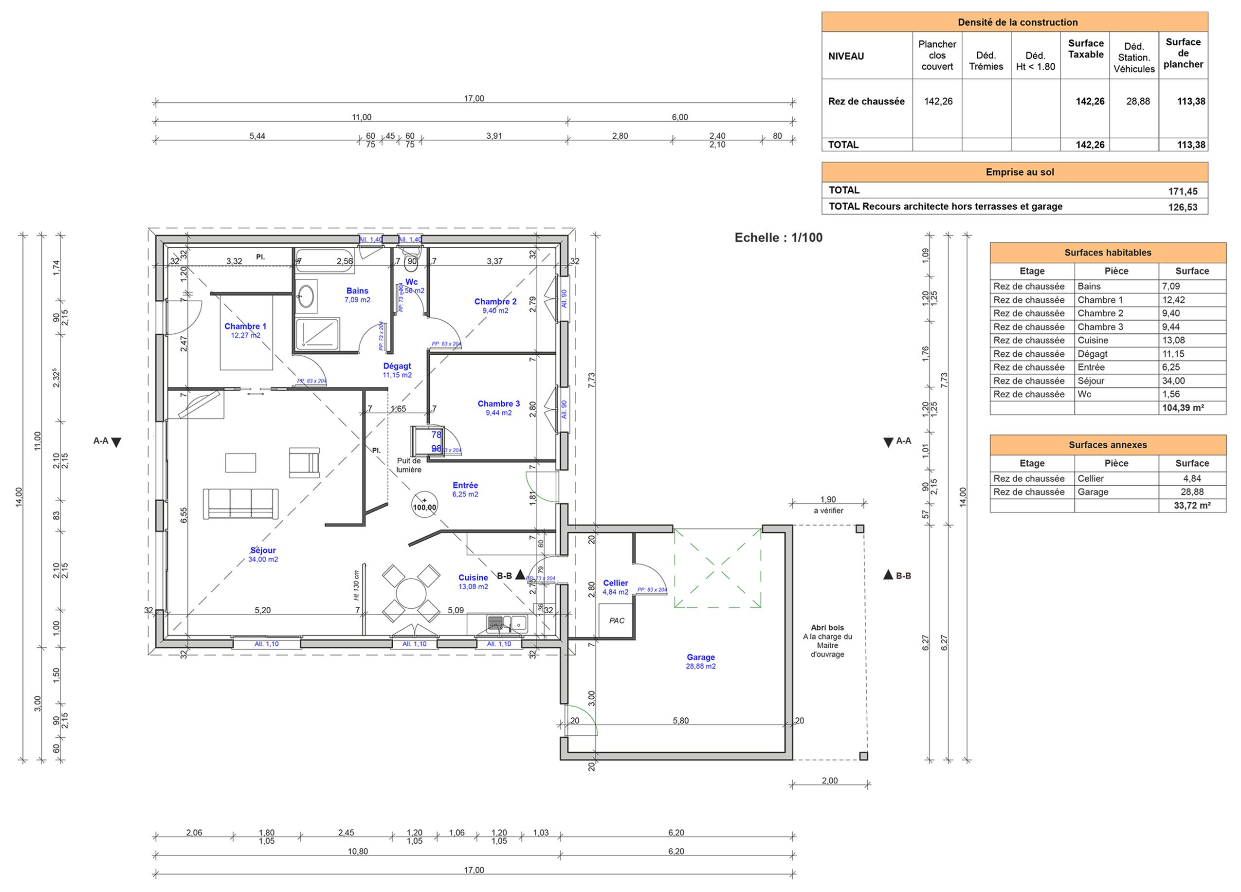 D p t du permis de construire et contrat de construction for Notice descriptive permis de construire