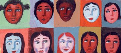 Les visages sur le mur