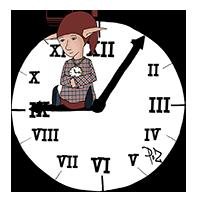 PoZ sur son horloge