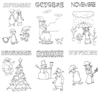 Les Fiches Des Mois Pour Le Cahier De Vie La Classe Des Gnomes