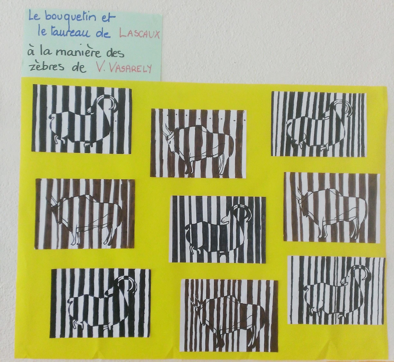 Assez Des animaux de Lascaux en code-barres, à la manière de Vasarely  JL33