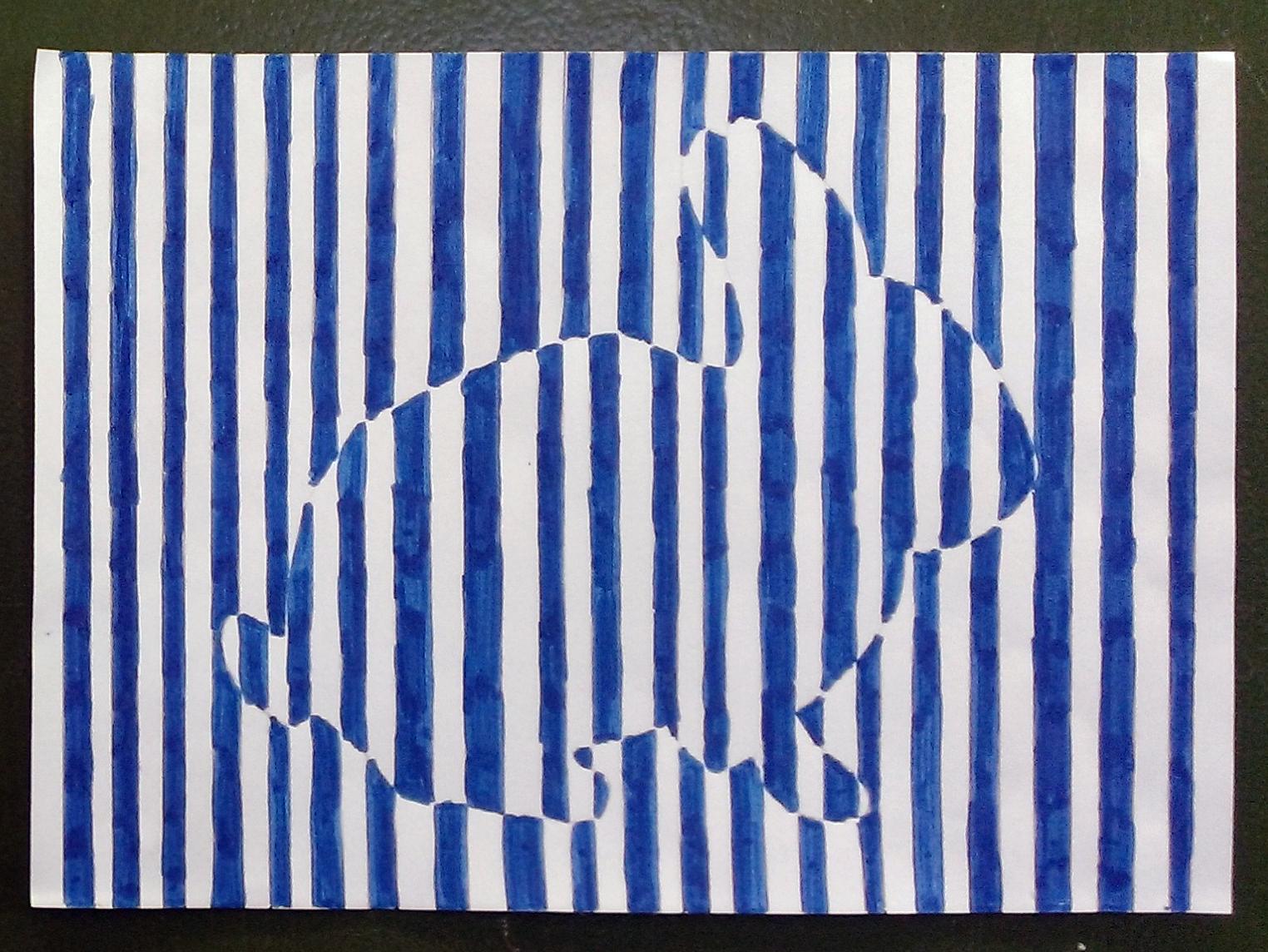 Un lapin en code barres  la mani¨re de Vasarely Un lapin en code barres  la mani¨re de Vasarely