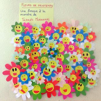 Des Fleurs De Printemps à La Manière De Takashi Murakami La