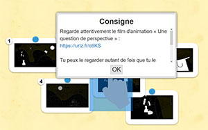 Court-métrage Une question de perspective - activité LearningApps