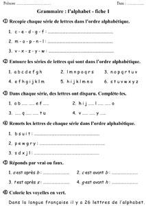 CE1 - L'ordre alphabétique ~ La Classe des gnomes