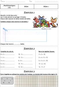 Ce1 Bilans Methode Cap Math La Classe Des Gnomes