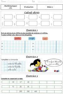 CE1 - bilans méthode Cap math ~ La Classe des gnomes