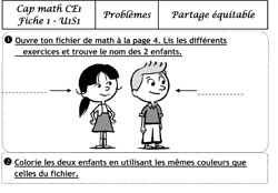 CE1 exercices de math