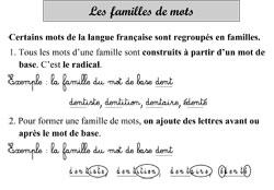 Les familles de mots (la dérivation) ~ La Classe des gnomes