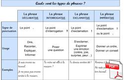 Les types de phrases (CE2) ~ La Classe des gnomes