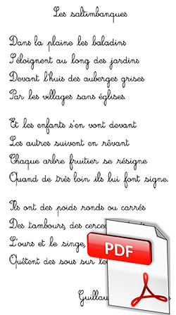 Les saltimbanques, de Guillaume Apollinaire