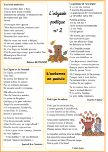 Les Odyssées Poétiques Cycle 3 La Classe Des Gnomes