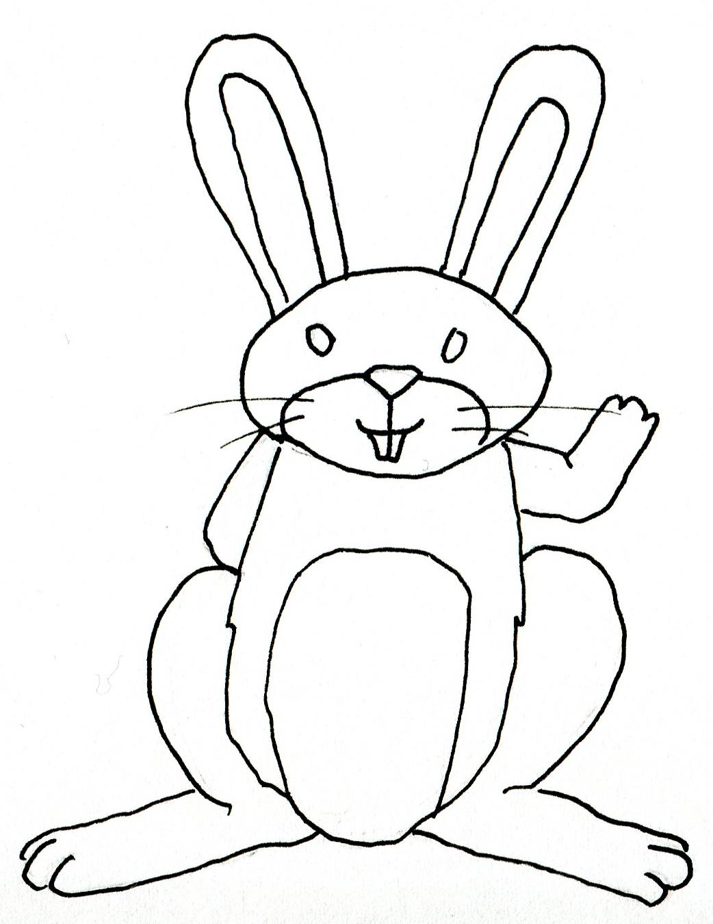 Pr parer la colorisation d 39 un dessin scann la classe des gnomes - Dessin un lapin ...