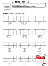 Boites à nombres - fiches