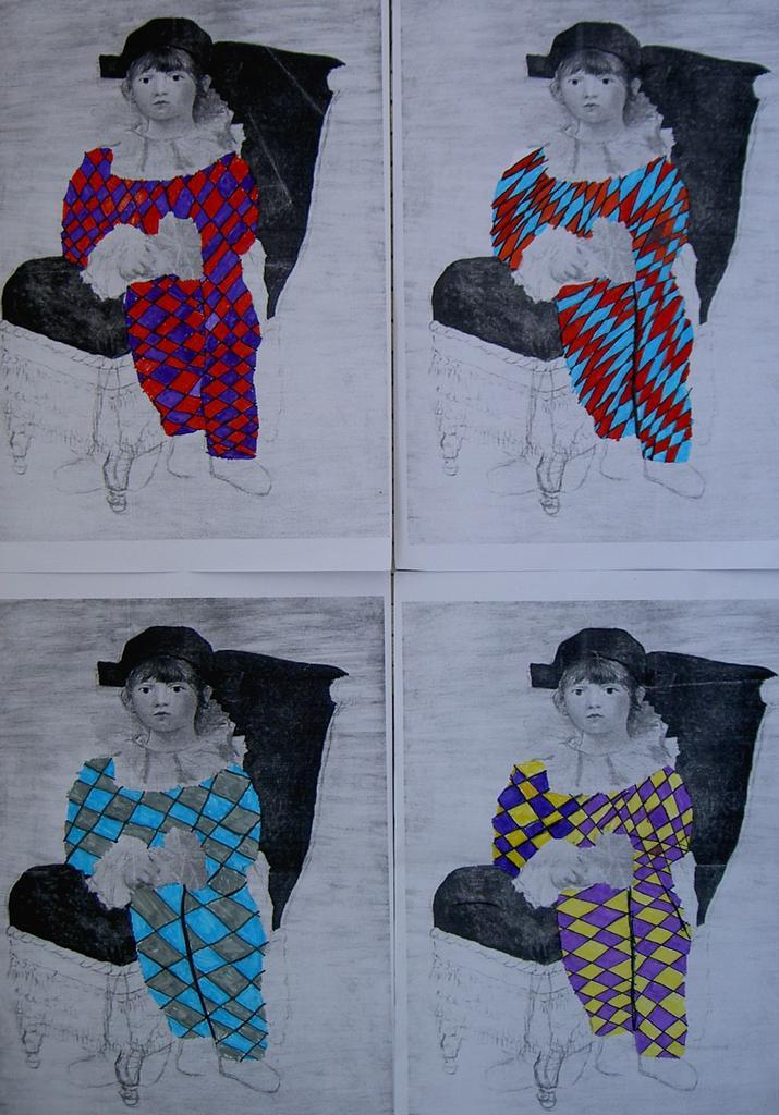 Coloriage Paul En Arlequin.Arlequin En Maternelle Projet Pluridisciplinaire La Classe Des