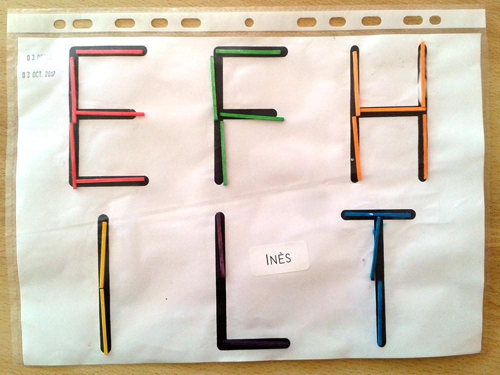 Maternelle - MS - Les lettres droites E F H I L T ~ La Classe des ...