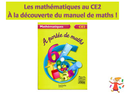 La d couverte du manuel port e de maths ce2 la for A portee de mots cm2