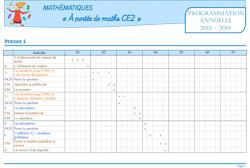 Port e de maths ce2 progression annuelle et for A portee de mots ce2