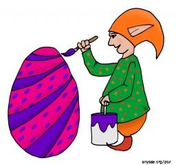 Décoration d'œuf de Pâques